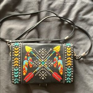 Vintage leather cross-body bag